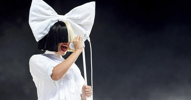 Sia performing live in concert