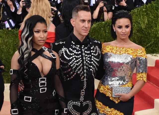 Nicki Minaj, Jeremy Scott and Demi Lovato.jpg