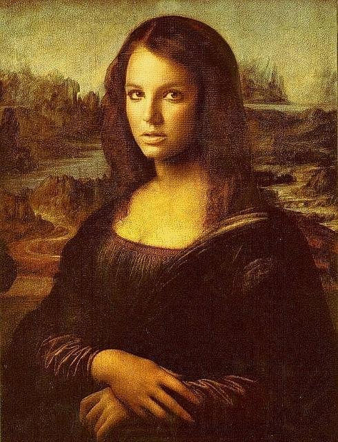 Fan art of Britney Spears as Mona Lisa